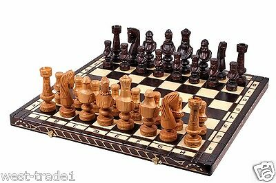 Luxury Hand Made Cesar wooden chess set outstanding pieces 60cm x60cm