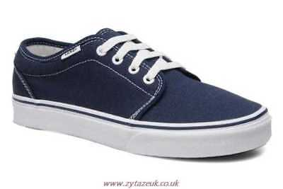 c3051ff0167bc6 Vans 106 Vulcanized Navy Blue White Mens Womens Canvas Shoes Sneakers All  Sizes
