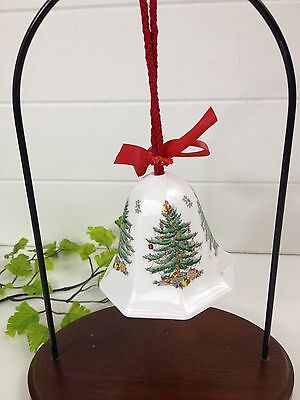Spode Bone China Merry Christmas Bell 2nd in Series- Christmas Tree Design