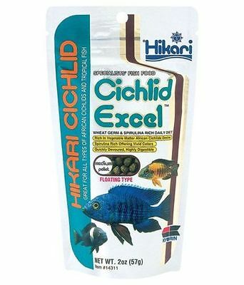 HIKARI Cichlid Excel 57g ,250g  Tropical Fish Food  MEDIUM Pellets