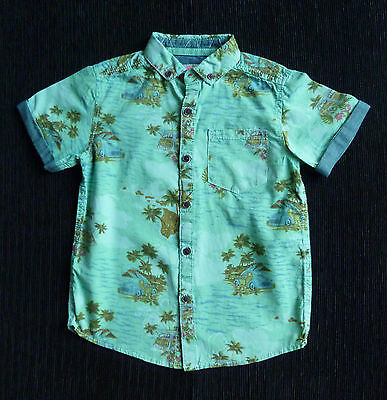 Kids/Childrens clothes BOY 5 years 110cm NEXT Hawaiian cotton shirt short sleeve