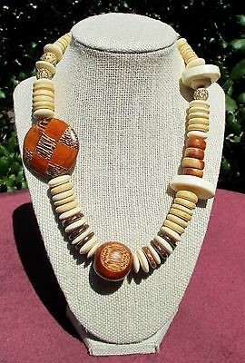 Wooden-Beaded Handcrafted Necklace - Made In Philippines