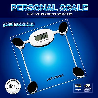180kg Digital Calorie Glass Bathroom Scales Weighing Weight Loss Clear BodyScale