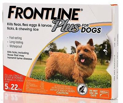 Frontline Plus For Dogs 5 To 22 lbs, Orange 3 Tubes