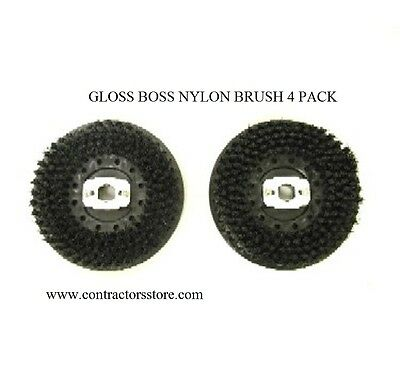 Pullman Holt Gloss Boss Mini Nylon Brush 4 Pack