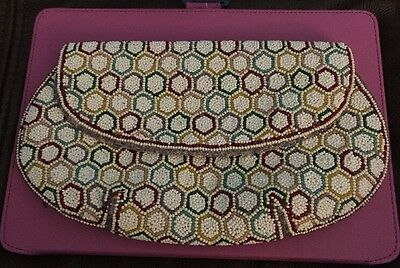 Vintage Beaded Clutch Purse Handmade In France