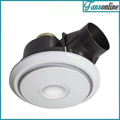 Fanco Luna LED 250 Quiet Exhaust Fan with Light - White | Bathroom Extraction
