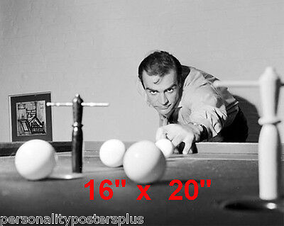 """Sean Connery~James Bond~Playing Pool~Billiards~Poster~16"""" x 20"""" Photo"""