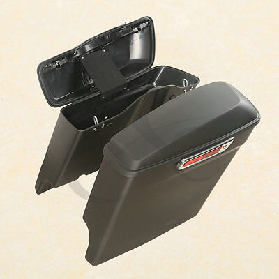 """5"""" Stretched Extended Hard Saddlebags Saddle bags For Harley Touring 2014-2019"""