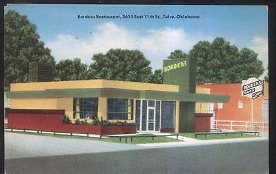 Postcard TULSA Oklahoma/OK  RT Route 66 Bordens Roadside Restaurant view 1930's