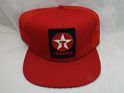 new VINTAGE Texaco Mesh snapback Red Oil Trucker patch Hat Cap