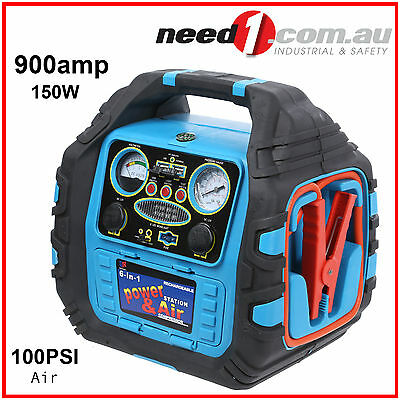 6 in 1 Engine Starter with Air Compressor and 150W Inverter Car Boat Caravan