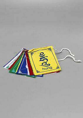 Om Mani Padme Hung Mini Tibetan Prayer Flags for Cars, Altars and Indoor Decor