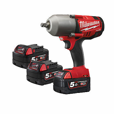 """Milwaukee M18CHIWF12-503X 18v FUEL 1/2"""" Impact Wrench - 3x 5Ah Batteries"""