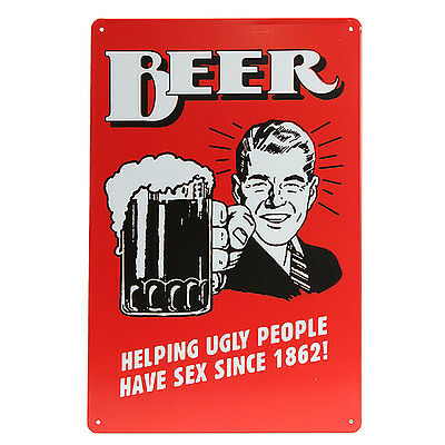 Beer Tin Sign Retro Vintage Metal Plaque Bar Pub Wall Decor Painting