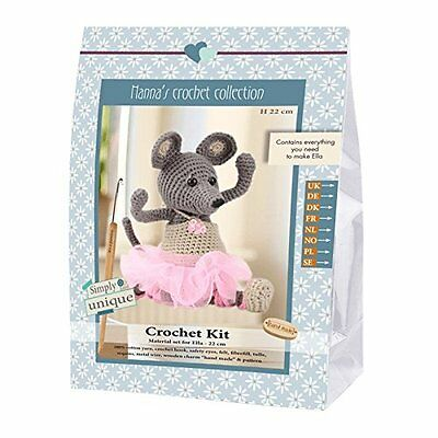 Go Handmade Ella The Mouse 22cm Crochet Needlework Complete Kit!
