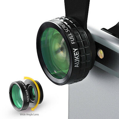 Aukey 3-in-1 Mobile Phone Lens Set Fisheye Macro Wide Angle for iPhone Android