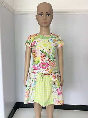 Oilily Girls Outfit, Set, Skirt Top Size Age 4 104cm, Floral, Summer, White, Vgc