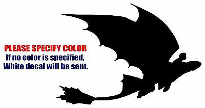 """Toothless and Hiccup Flying Funny Vinyl Decal Car Sticker Window bumper 7"""""""