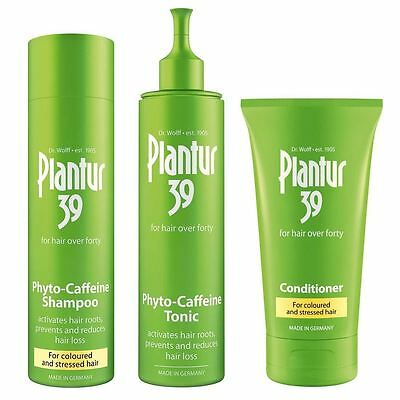 Plantur 39 Shampoo + Conditioner for Coloured & Stressed Hair + Caffeine Tonic
