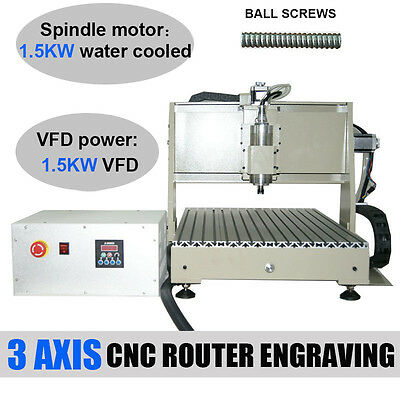 6040 1.5KW 3AXIS CNC ROUTER ENGRAVER Drilling Carving Machine VFD Ball Screw220V