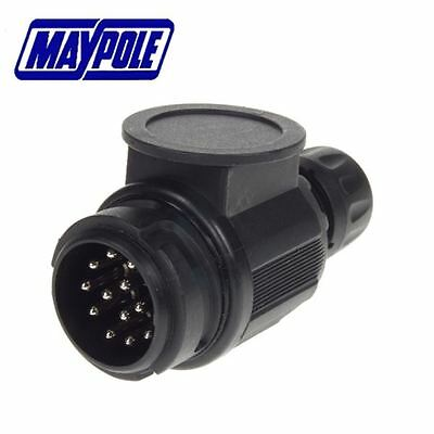 Maypole 12V 13 Pin Trailer Plastic Plug - Mp128B