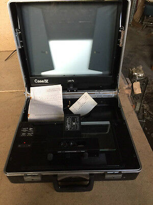 Plasmec Systems Ltd Microphax Portable Microfilm Microfiche Reader Case IV