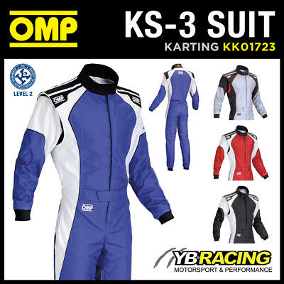NEW! KK01723 OMP KS-3 KS3 KART RACE SUIT CIK-FIA LEVEL 2 APPROVED in 4 COLOURS!