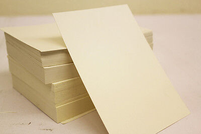200 A5 Sheets Plain Ivory / Cream Thick Craft Card 250gsm Card Stock