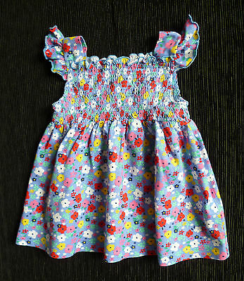 Baby clothes GIRL 3-6m Blue Zoo Debenhams designer floral blue/pink dress NEW!