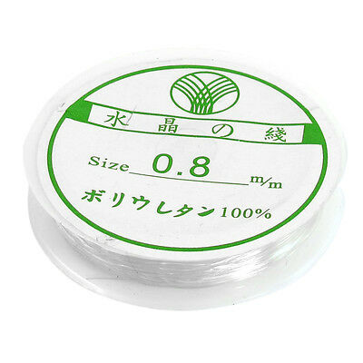 0.8mm Clear Plastic Stretchy Thread Line for Necklace DM