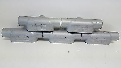 "Lot (5) New Old Stock Crouse-Hinds 1"" Conduit Bodies T37"