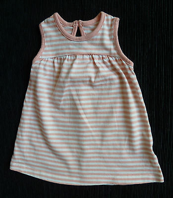 Baby clothes GIRL 0-3m George pink/white stripe brushed cotton dress SEE SHOP!