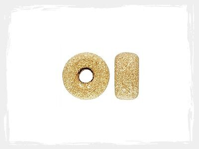 14k Gold Filled 5mm Stardust Roundel Spacer Beads 20pcs #6122-5