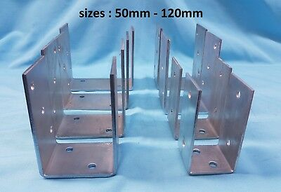 HEAVY DUTY GALVANISED U TYPE FENCE POST FOOT,SUPPORT, ANCHOR / 4mm THICK