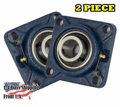 "UCF210-32 Pillow Block Flange Bearing 2"" Bore 4 Bolt Solid Base (2PCS)"