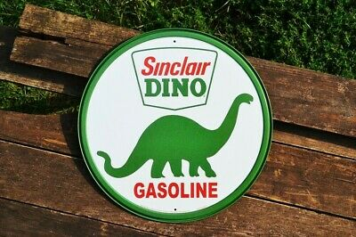 Sinclair Gasoline Tin Metal Sign - Dino - Dinosaur - Motor Oil - Gas - Retro