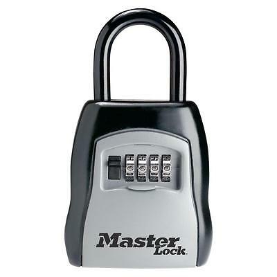Master Lock Portable Set-Your-Own Combination Steel Lock Box Padlock Key Safe