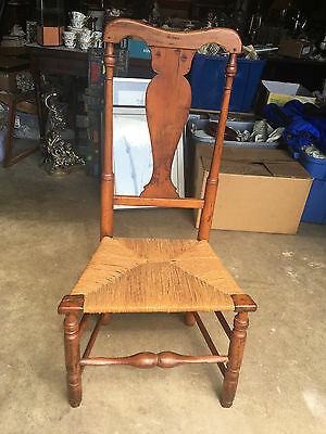 Antique 18th Century American Country Queen Anne Chair