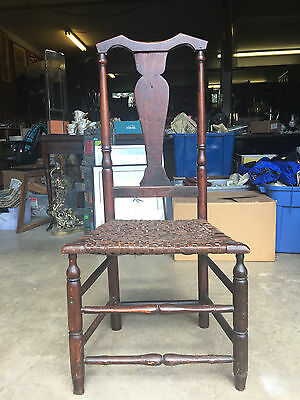 Antique 18th Century American Country Queen Anne Chair Possibly Original Finish