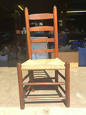 Antique 18th Century American Country Shaker Ladder Back Chair