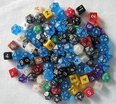 Over 1/2 a Pound of NEW Misprint RPG D&D Dice! Bulk, assorted die lot