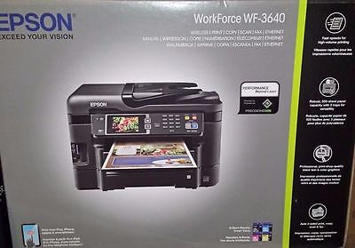 NEW Epson WorkForce WF-3640 Wireless Color All-in-One Inkjet Printer
