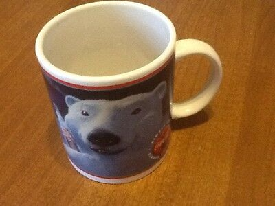 COCA COLA POLAR BEAR MUG 1996 Enesco VGUC COKE COLLECTIBLE