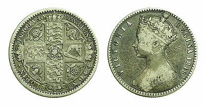 pcc1392_16) Great Britain Queen Victoria 1849 Florin Silver TONED