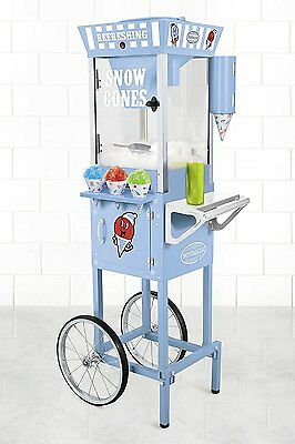 Premium Quality Ice Cub Shaved Ice Shaver Machine Commercial Snow Cone Cart NEW