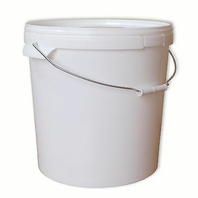 Plastic bucket with lid and handle 20 L, paint, food, water (22050)
