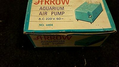 Arrow vintage aquarium pump AC 220 V 50 untested