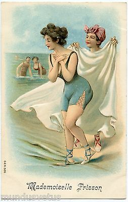 Magnifiques Baigneuses . Charme . Pin-up . Beautiful Swimmers. Charm . Gaufré