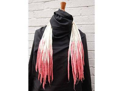 Blonde and Pink transitional dreads - Double ended tapered wool dreadlocks